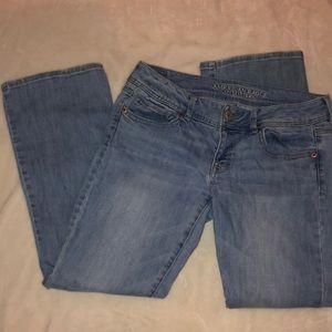 American Eagle Stretch Kick Boot Jeans 10 Short